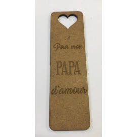 "Marque pages ""Papa d'amour"""