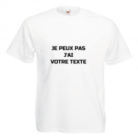 Tee shirt adulte blanc personnalisable